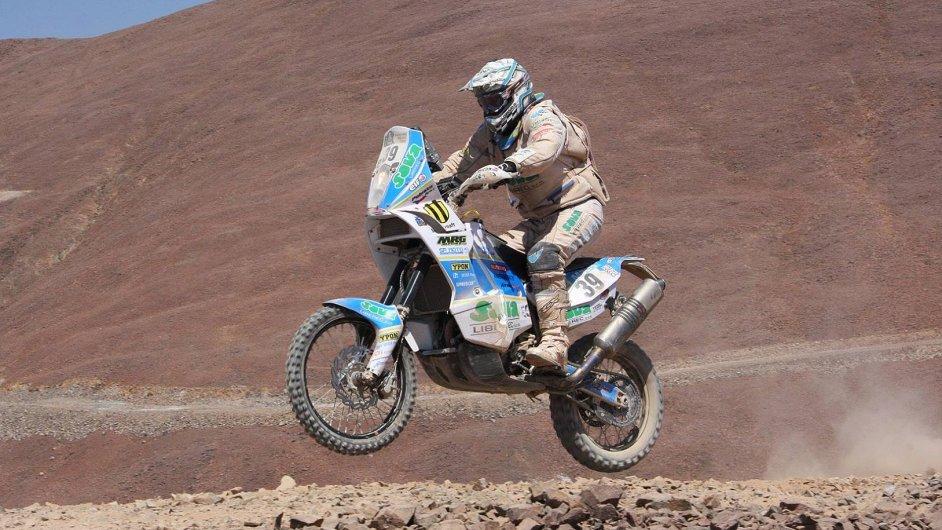 David Pabiška na trati Rallye Dakar 2014