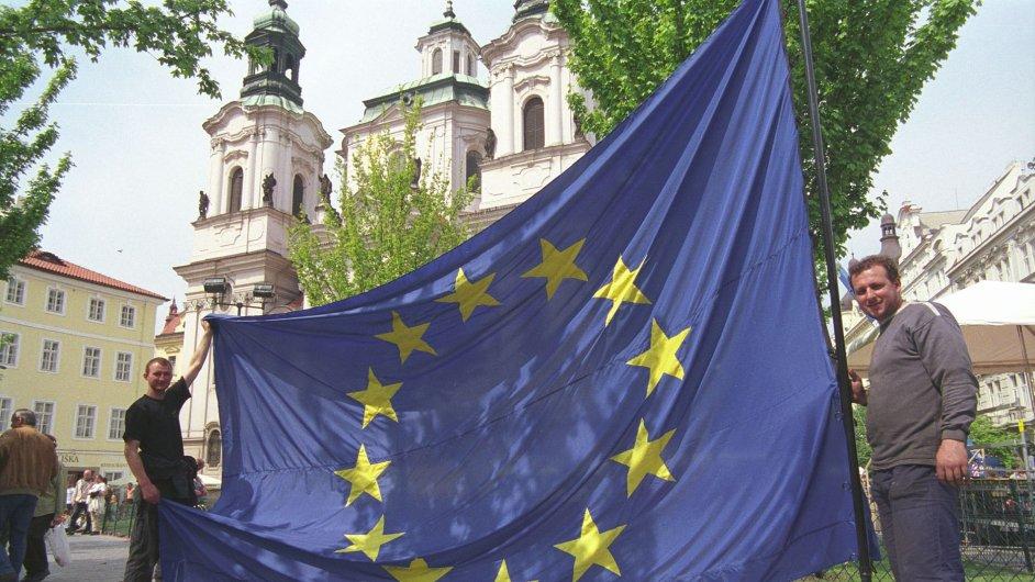 Protest proti EU v Praze