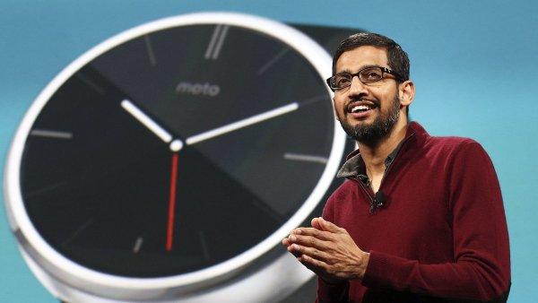 Šéf internetové společnosti Google Sundar Pichai.