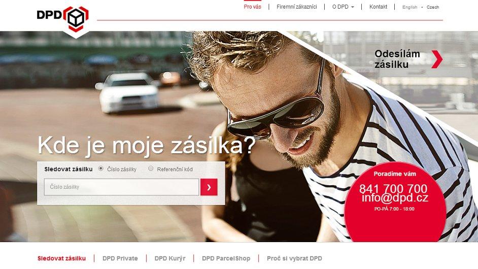DPD má nový web pro koncové zákazníky