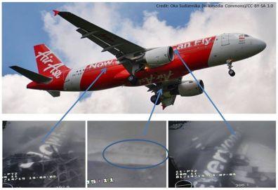 Snímky trupu zříceného letadla