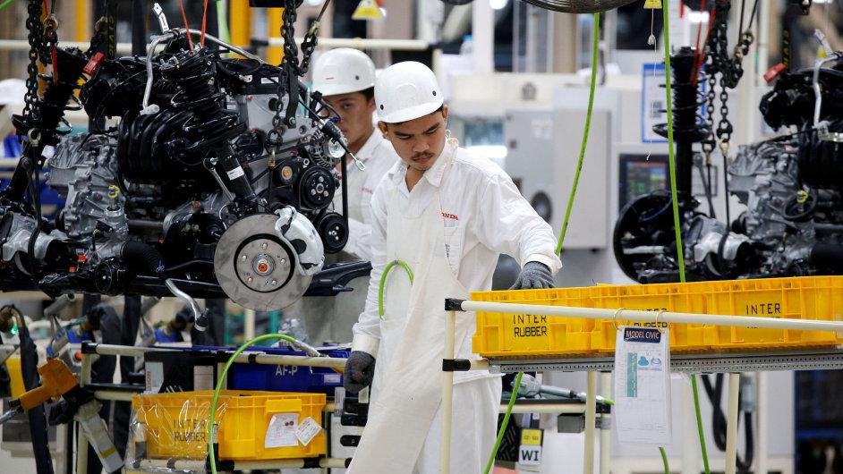 Honda, továrna, auto, automobilový průmysl