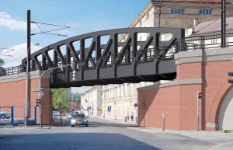 Dnešní most v ulici Prvního pluku stavbaři vymění zazcela nový sobloukovou konstrukcí.