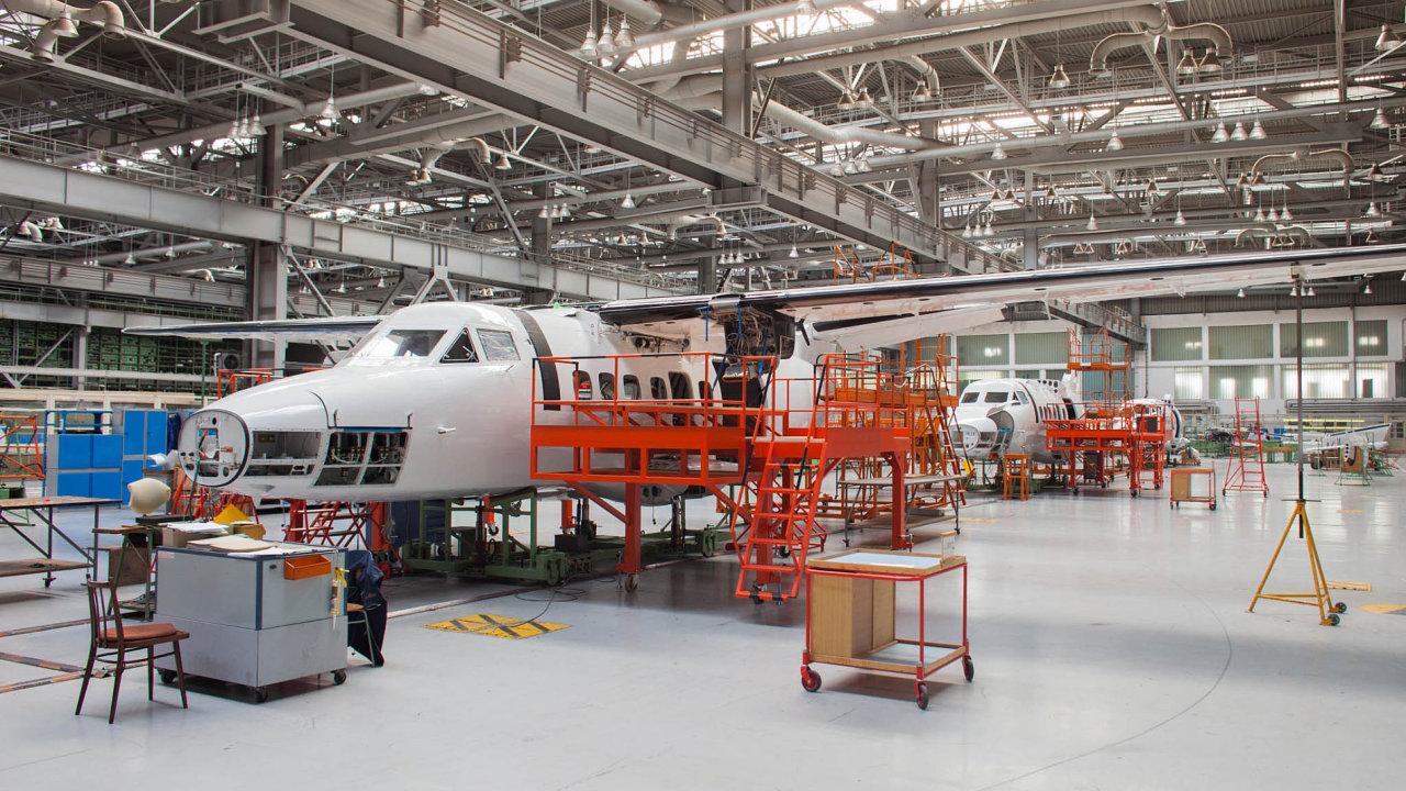 Výroba v kunovické továrně Aircraft Industries