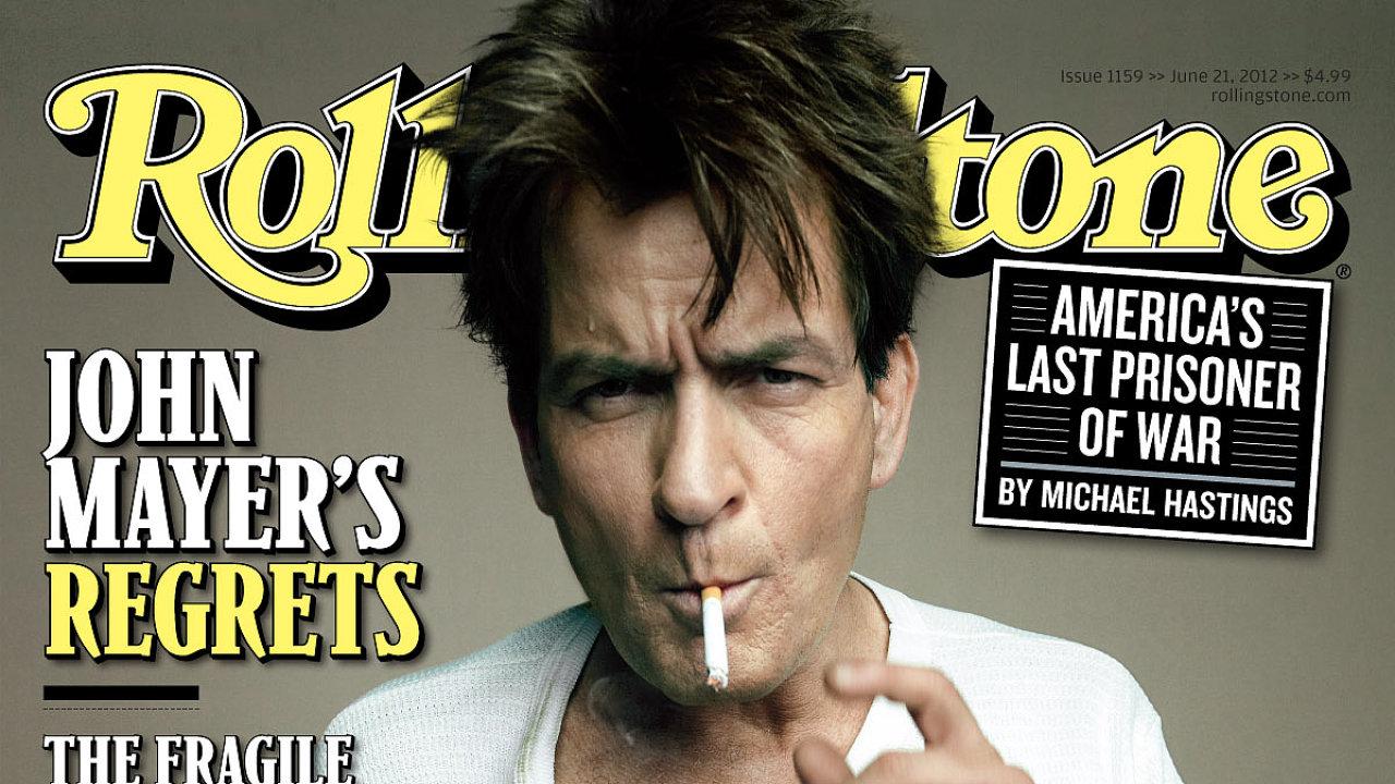 Charlie Sheen na obálce časopisu Rolling Stone.