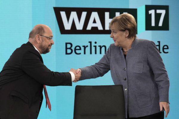 Merkelová, Schulz, volby