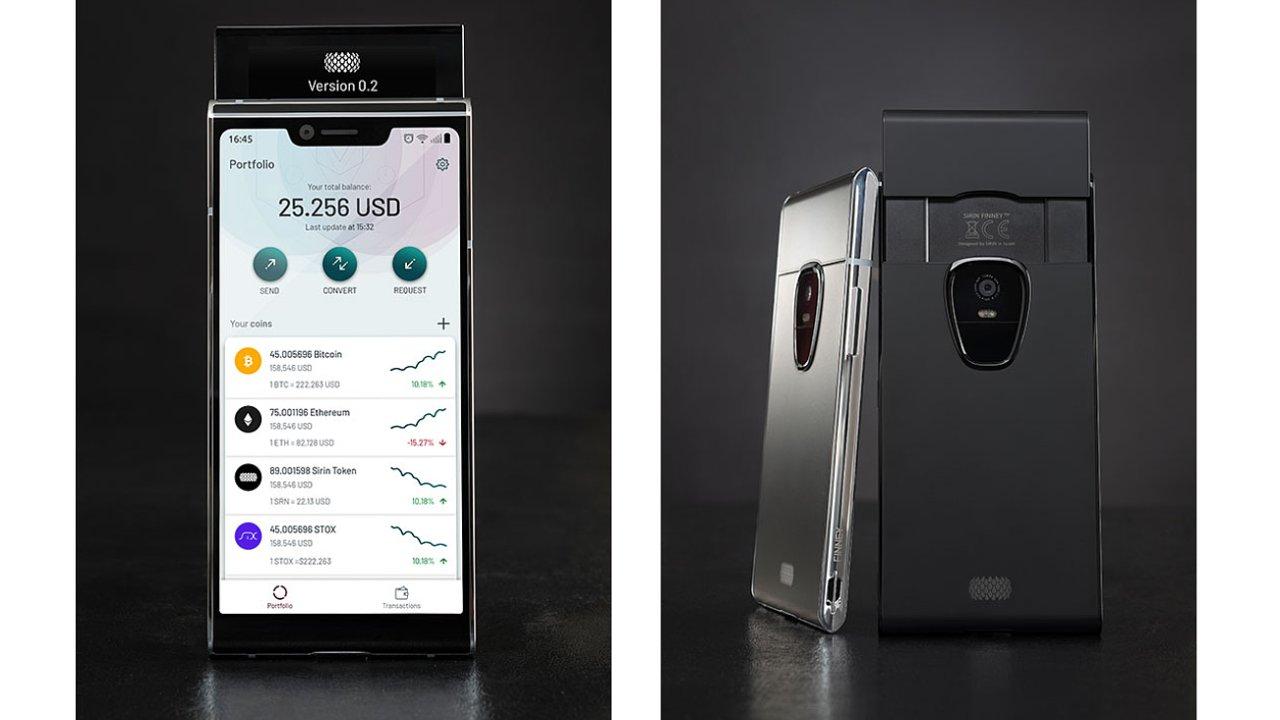 Telefon Sirin Finney založený na blockchainu