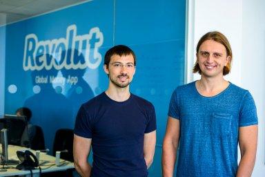 Zakladatelé mobilní banky Revolut  Vlad Yatsenko a Nikolay Storonsky.