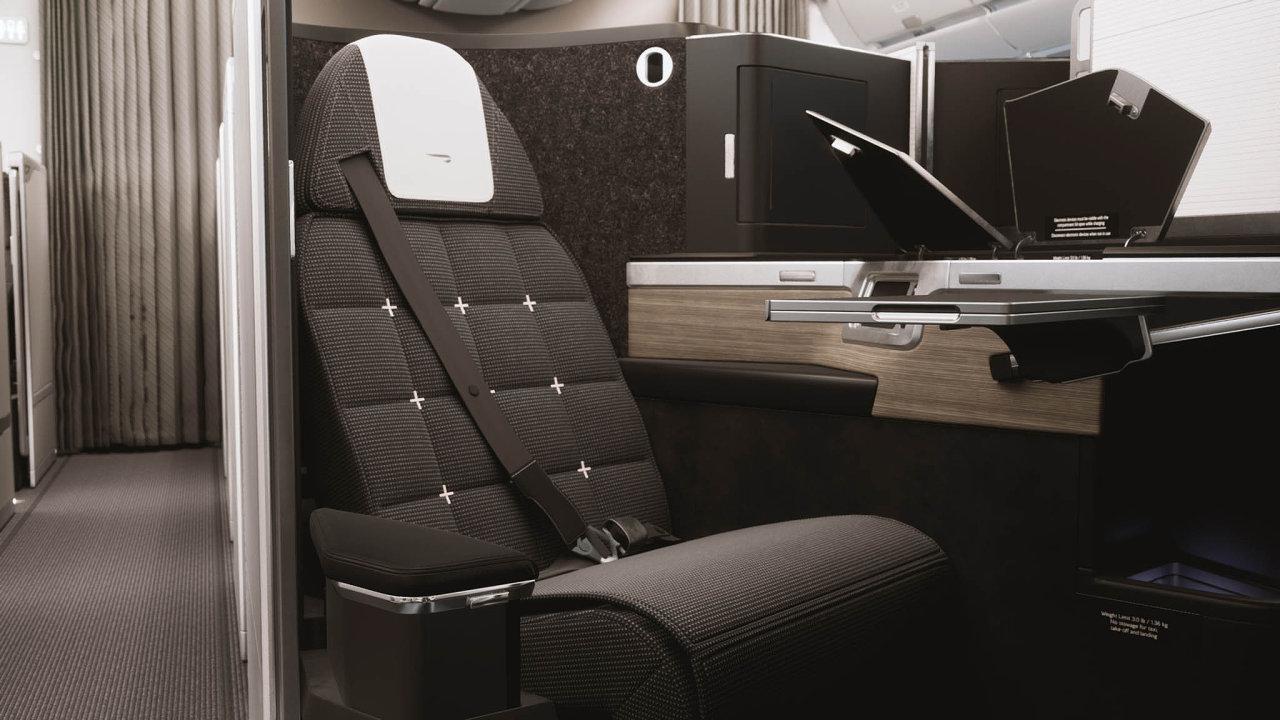 Sedadla vbyznys třídě, která připomínají malý hotelový pokoj, slavnostně představila britská společnost British Airways. Klubové apartmá bude kdispozici vbyznys třídě vnových Airbusech A350.