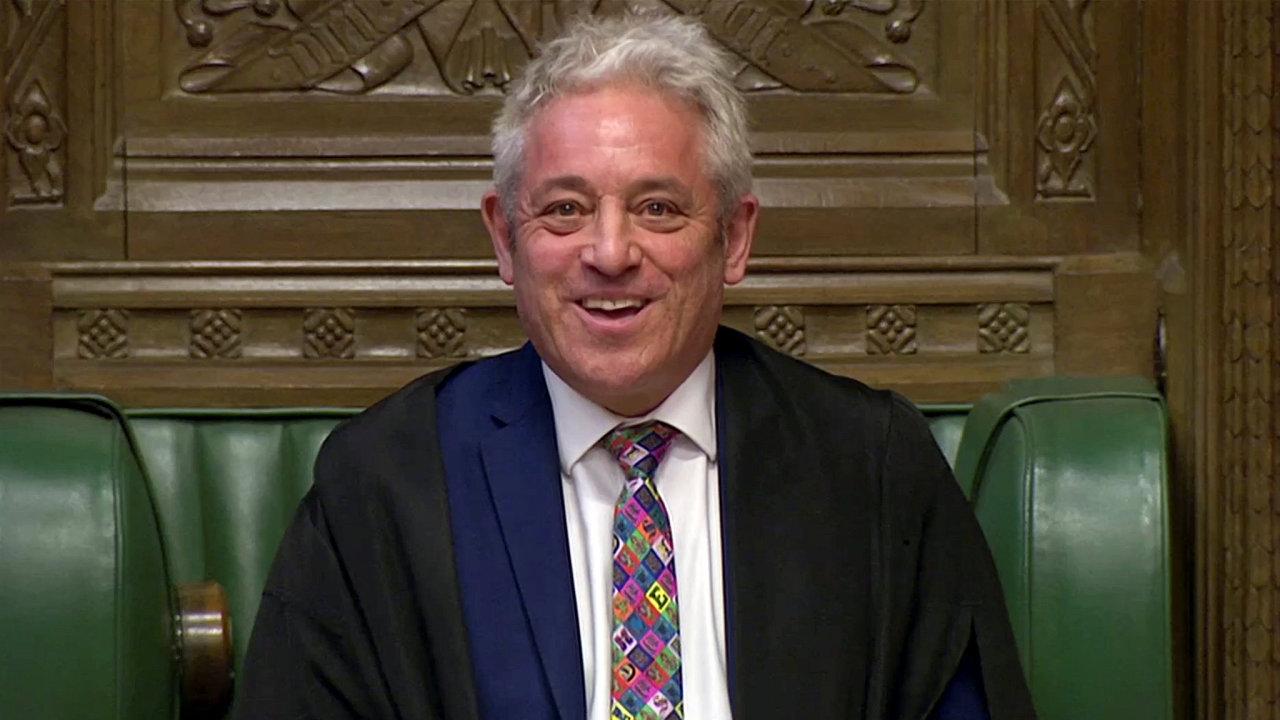 Předseda britské Dolní sněmovny John Bercow.
