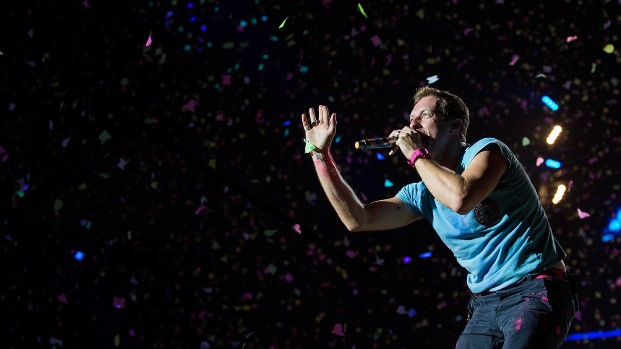 Frontman skupiny Coldplay Chris Martin.