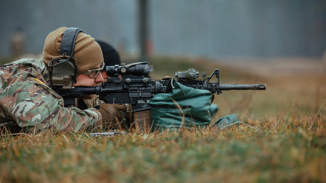Americký velitel na cvičení v Polsku