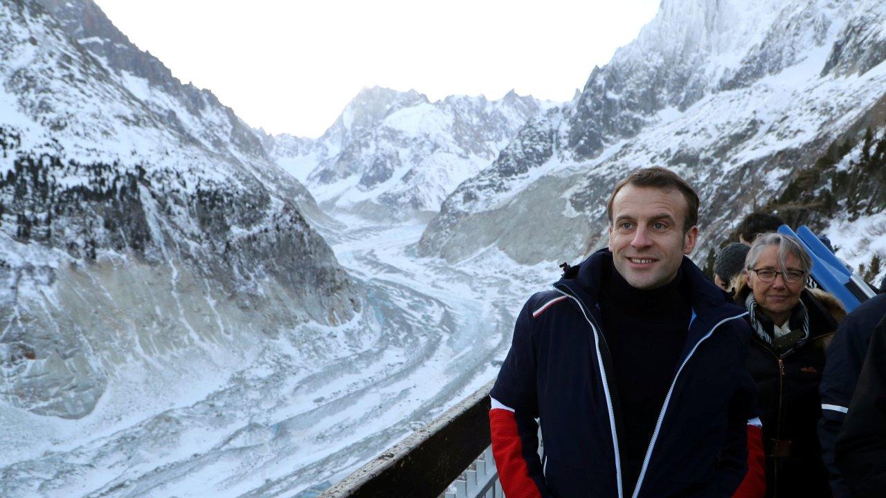 Macron, mont blank