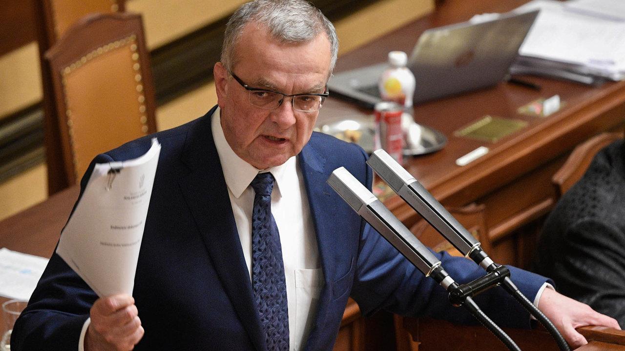 Nové, širší pravomoci pro ČNB, které ministryně Schillerová navrhuje, Miroslav Kalousek připodobnil kbianko šeku.