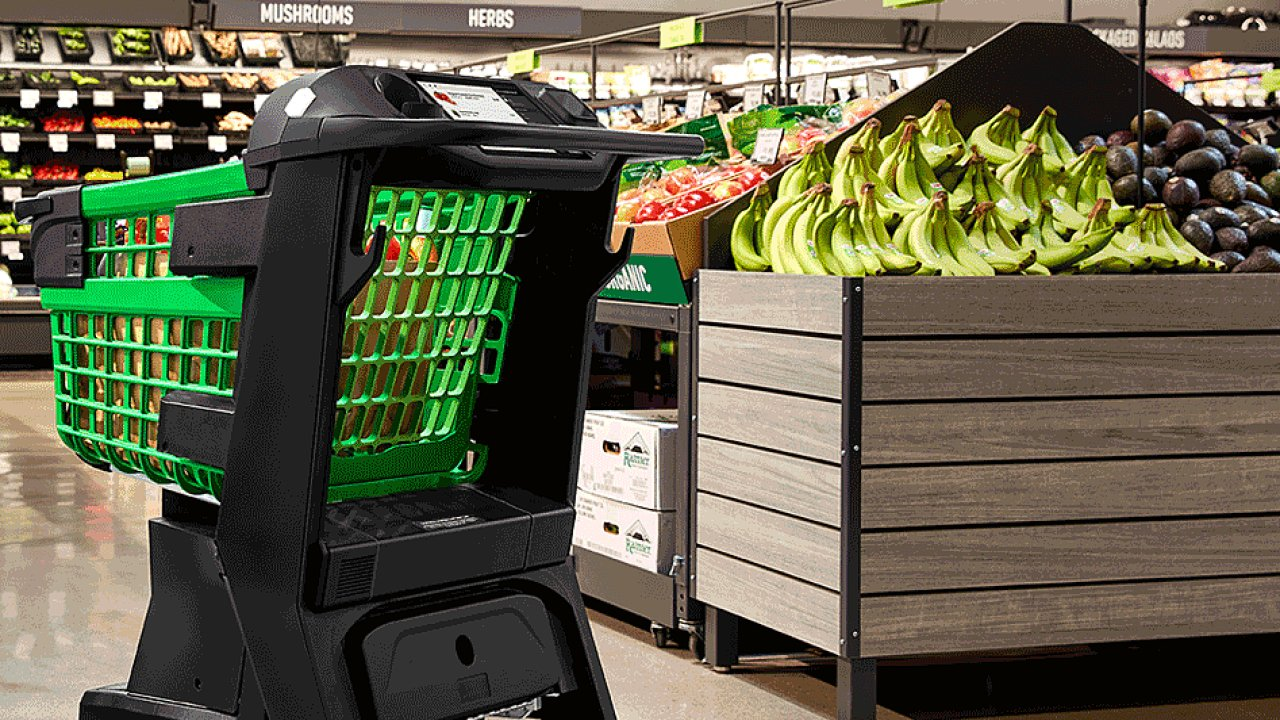 Nákupní košík nazvaný Amazon Dash Cart se poprvé objeví v novém supermarketu, který chce Amazon ještě letos otevřít v Los Angeles.