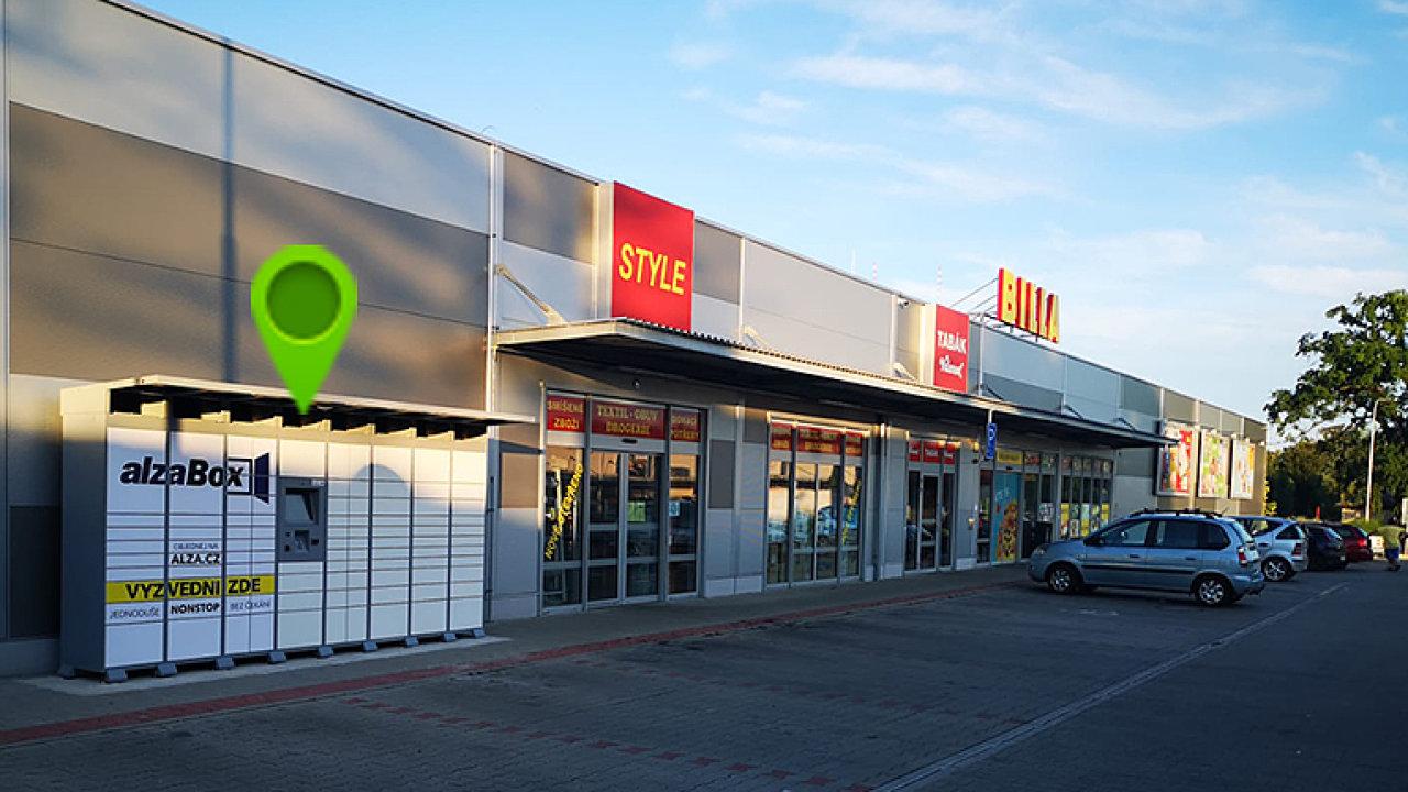 AlzaBox v Obchodním centru Pila v Českém Brodě  (ilustrační foto)