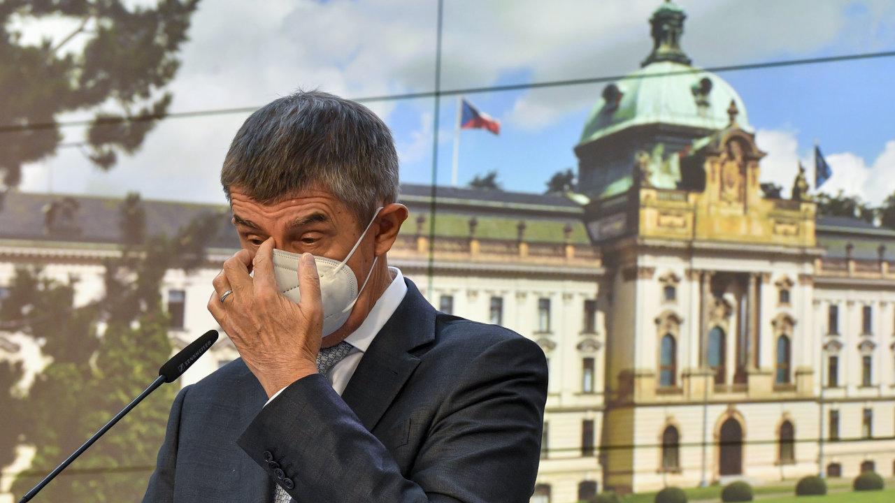 Premiér Andrej Babiš koronavirus covid
