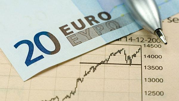 Euro, graf. Ilustrační foto.