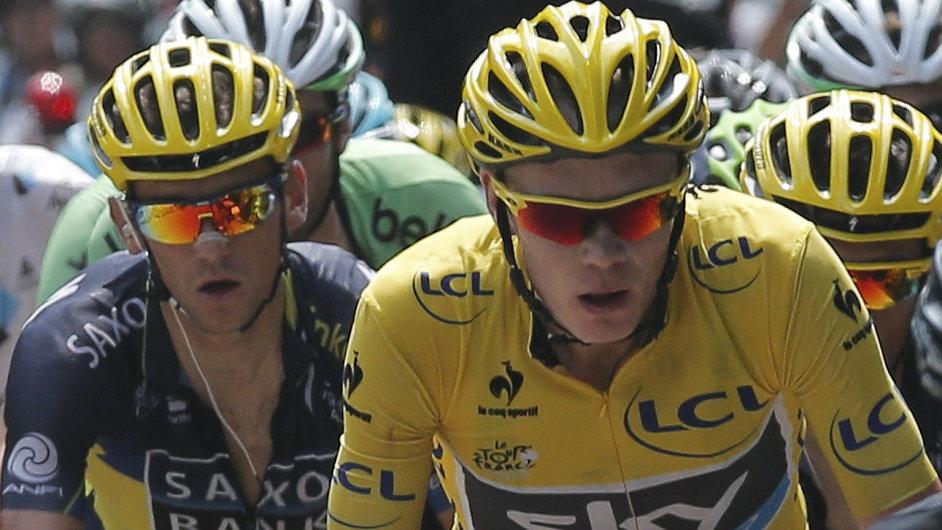 Chris Froome a za ním Roman Kreuziger. Jak ještě dlouho?