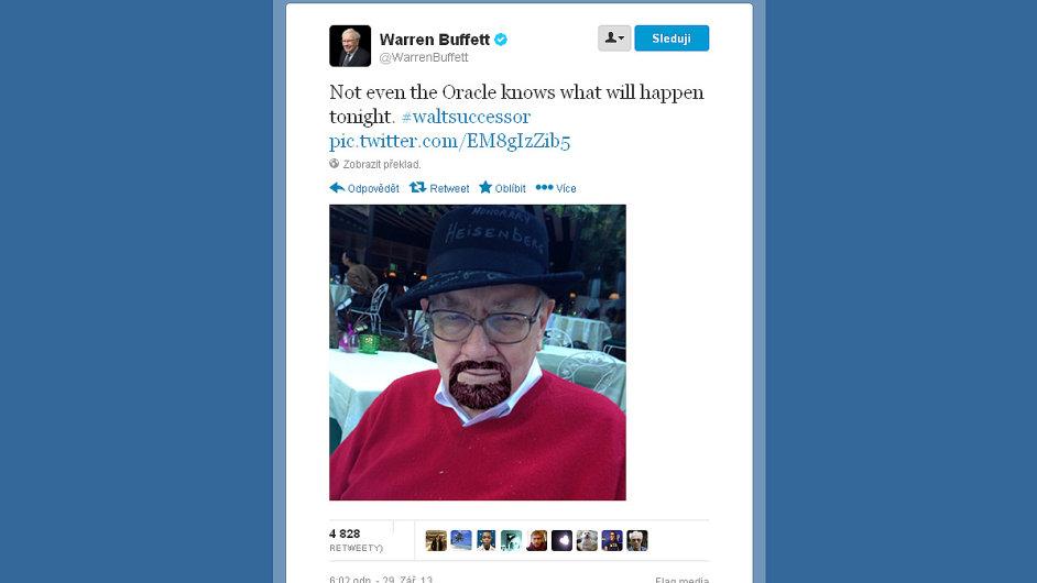 Warren Buffett dal na Twitteru najevo svou náklonost k seriálu Breaking Bad (Perníkový táta).