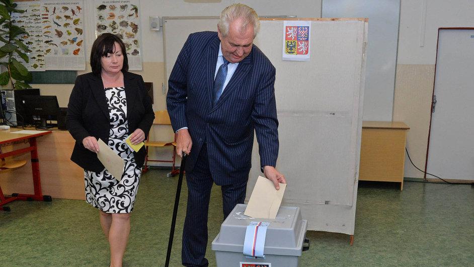 Prezident Miloš Zeman se svou ženou Ivanou.