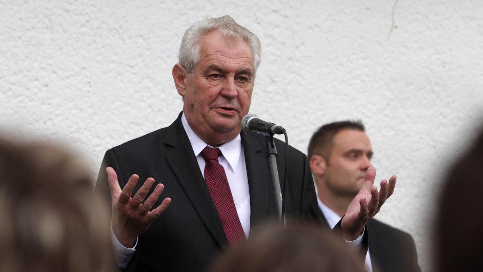 Miloš Zeman na návštěvě v Břeclavi