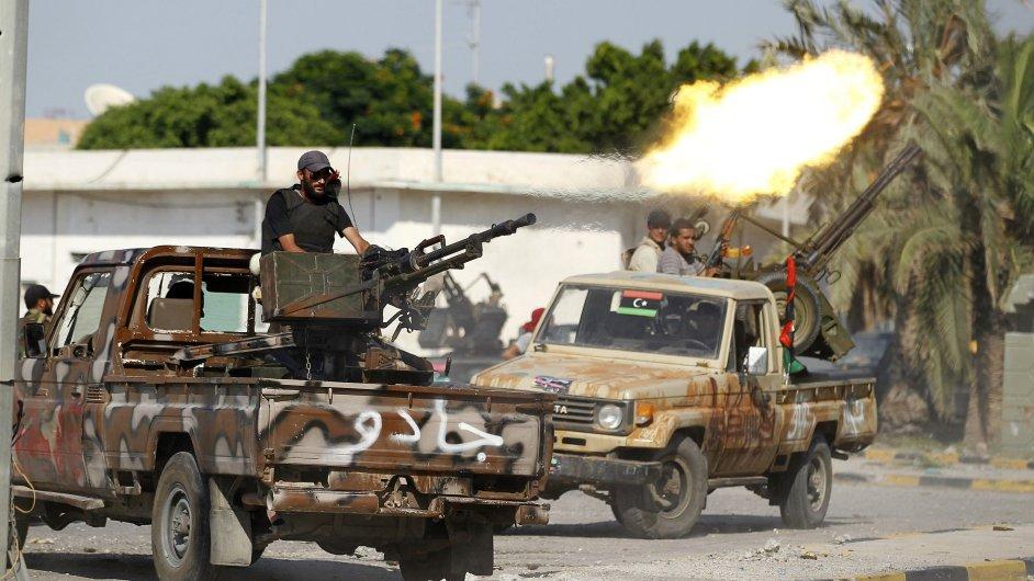 Rebelové v Libyi, ilustrační foto