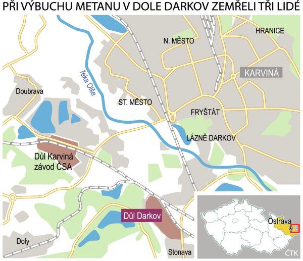 D�l Darkov, mapa, infografika