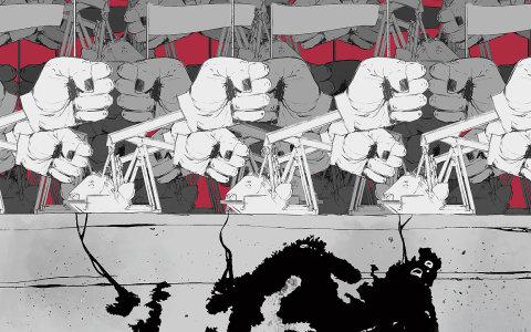 Krajní pravice dobývá Evropa - ilustrace.