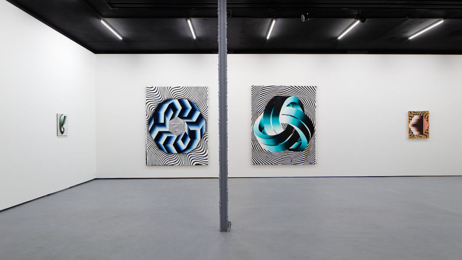 Snímek z výstavy Vladimíra Houdka v pražské Polansky Gallery.