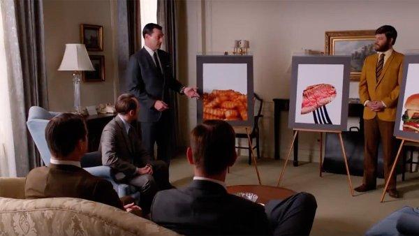 Scéna s kečupem Heinz v seriálu Mad Men