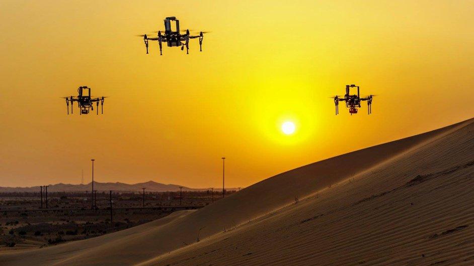 Drony týmu vědců z elektrotechnické fakulty ČVUT uspěly v soutěži v Abu Dhabi.