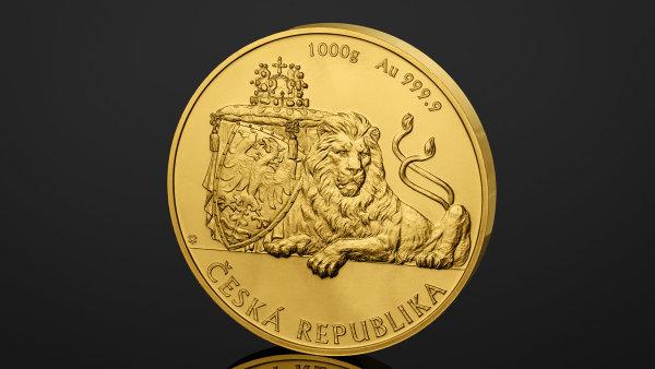 První česká investiční mince nese podobiznu českého lva.