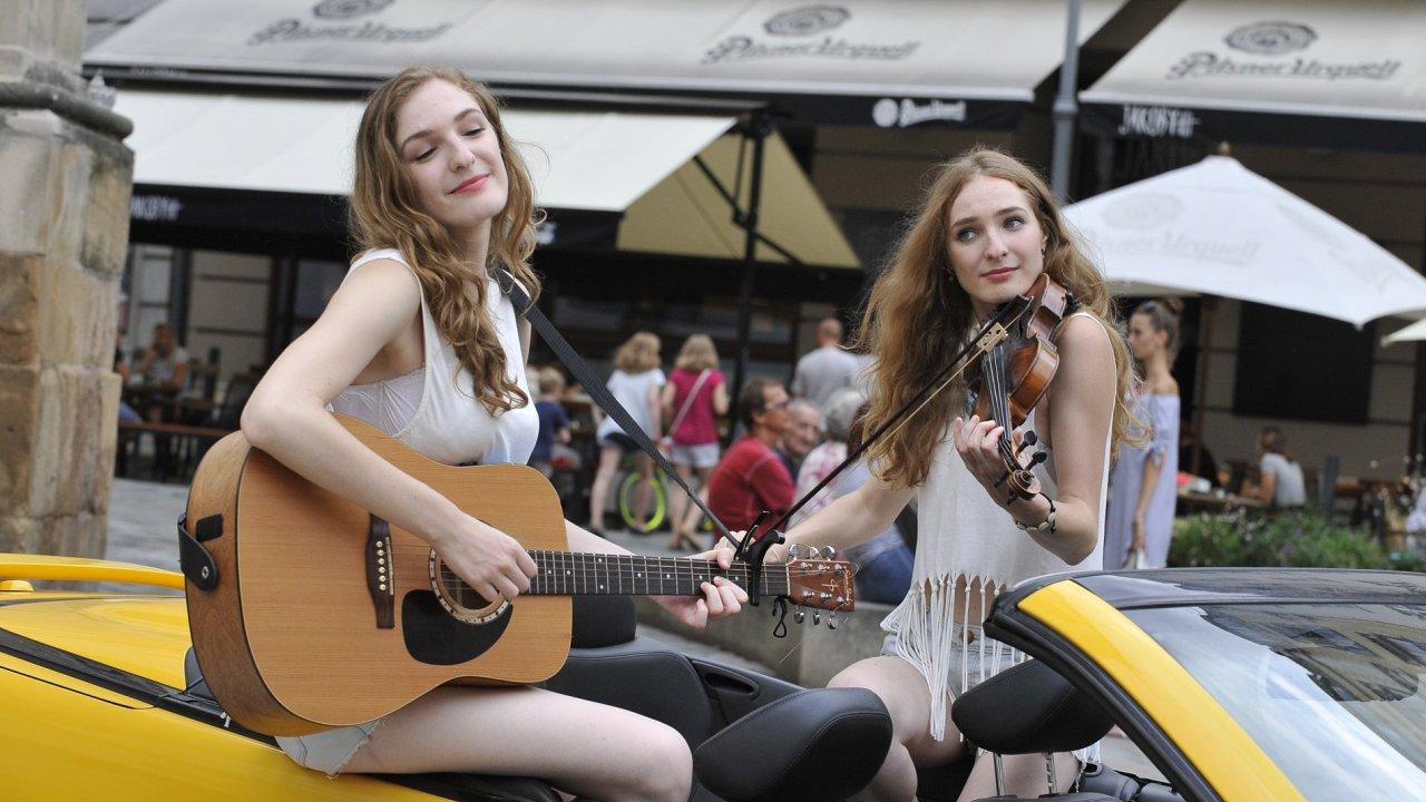 Snímek z festivalu Maraton hudby.