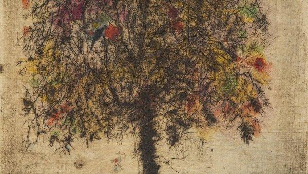 Grafika Arbor vydražená za 429 tisíc korun včetně přirážky se stala nejdražším dílem Bohuslava Reynka.