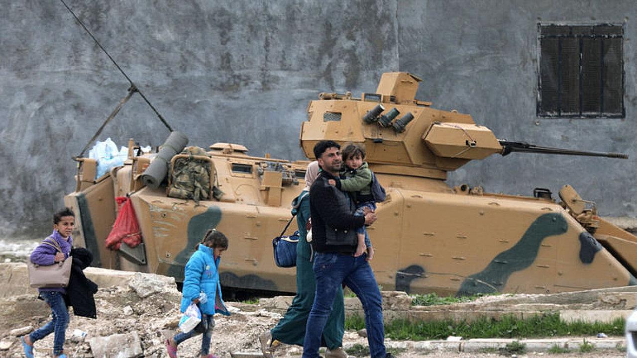 Spojenecké oddíly turecké armády vstoupily do Afrínu
