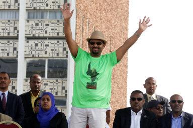 Etiopský premiér Abiy Ahmed v Addis Abebě.