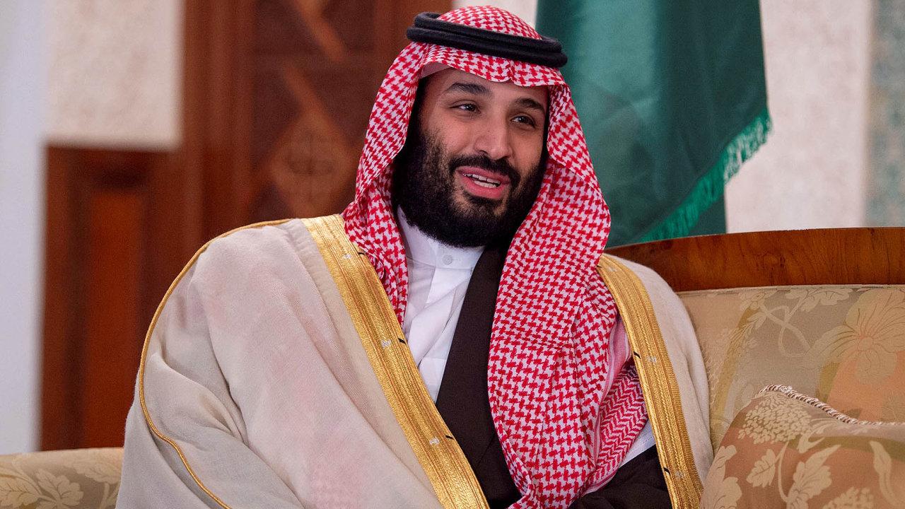 Saúdskoarabský korunní princ Muhammad bin Salmán.