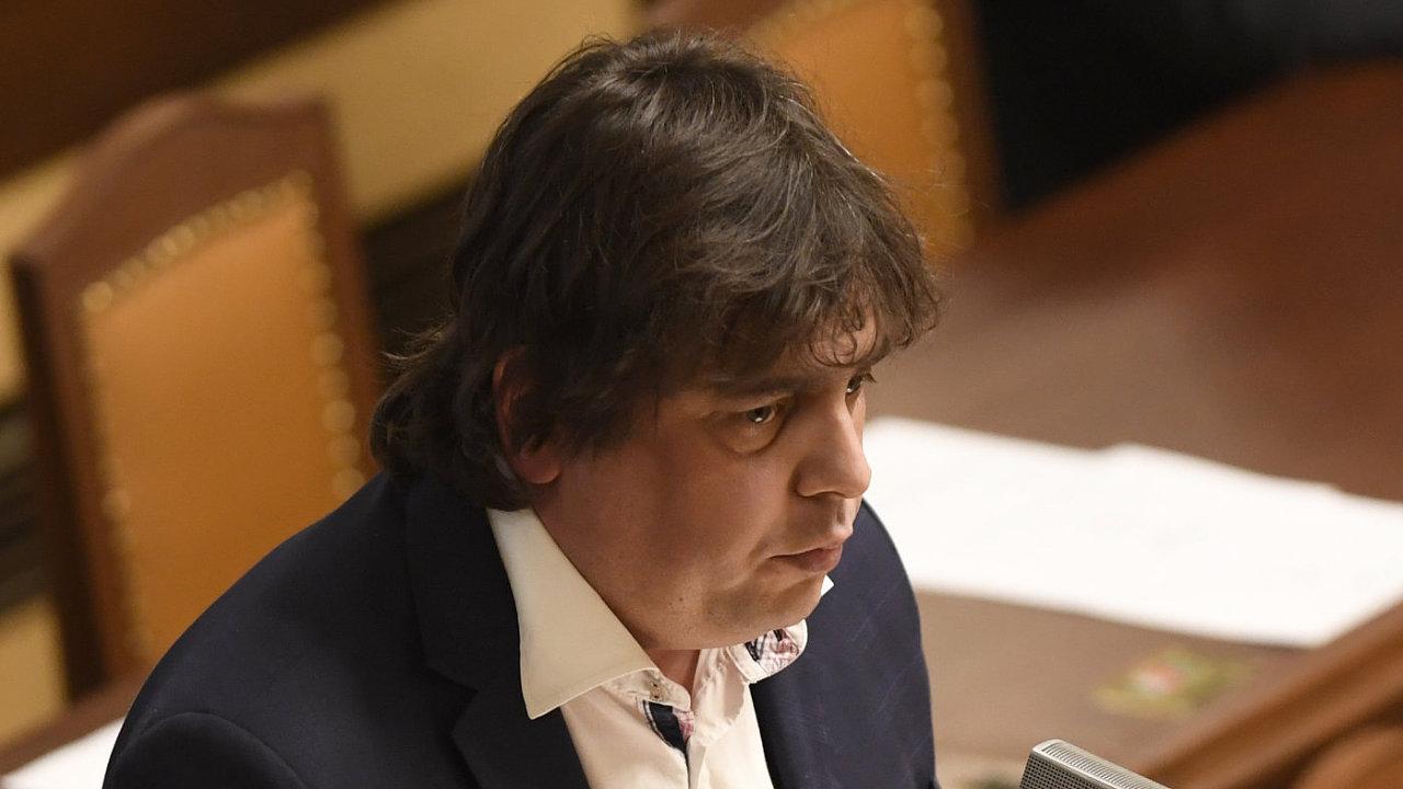 Poslanec Miloslav Rozner vystoupil 13. března 2019 v Praze na schůzi Poslanecké sněmovny.