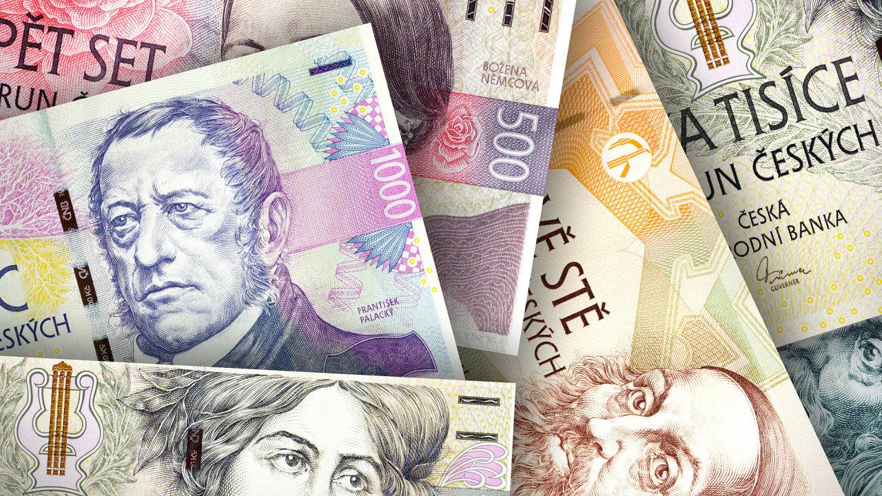 Koruna, měna, peníze - ilustrační foto