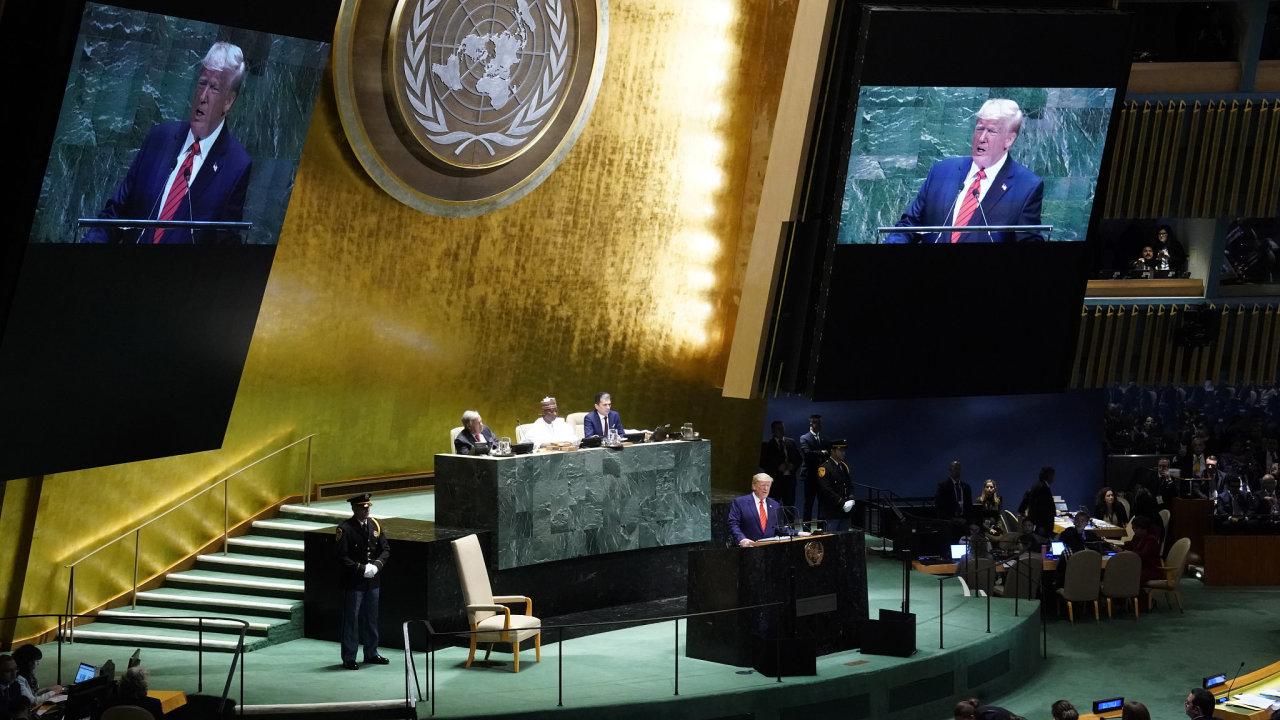 Budoucnost nepatří globalistům, ale vlastencům a silným suverénním státům, řekl Trump na půdě OSN.