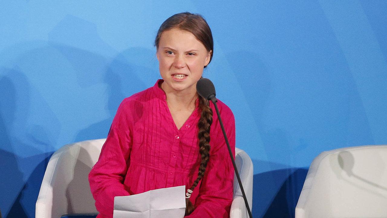 Ekologická aktivistka Greta Thunbergová přednesla rozzlobený projev naklimatické konferenci OSN vNew Yorku.