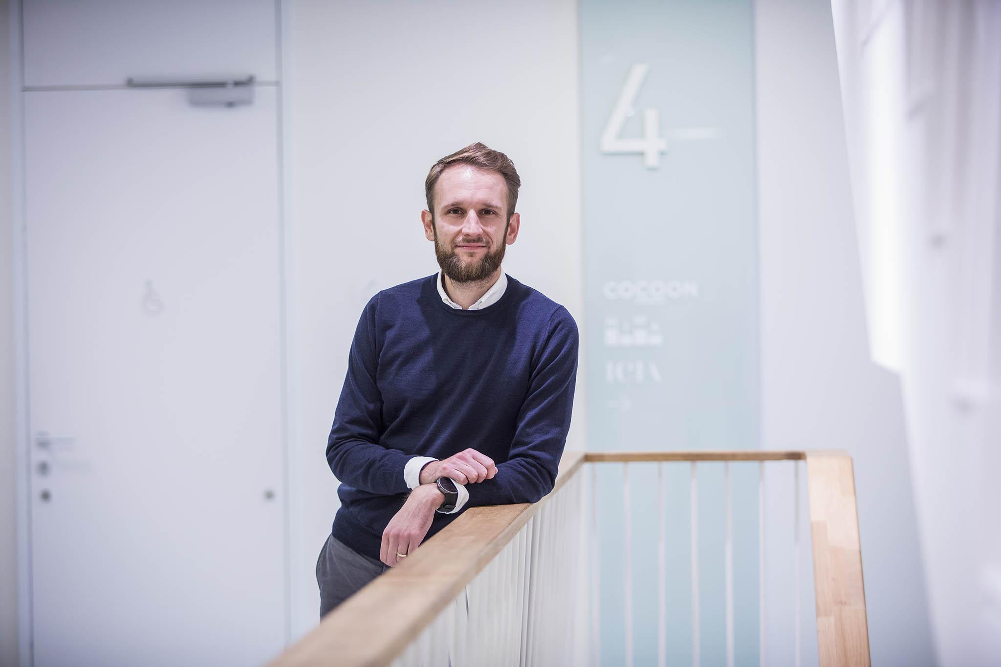 Zainkubátor expertů nainvestice dozačínajících technologických firem označují mladí podnikatelé Jan Krahulík aMichal Ciffra (na snímku) svůj projekt Grouport.