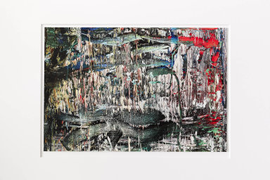 Každá kazeta projektu Art 19 obsahuje 10 signovaných uměleckých tisků děl. Na snímku je to odGerharda Richtera.