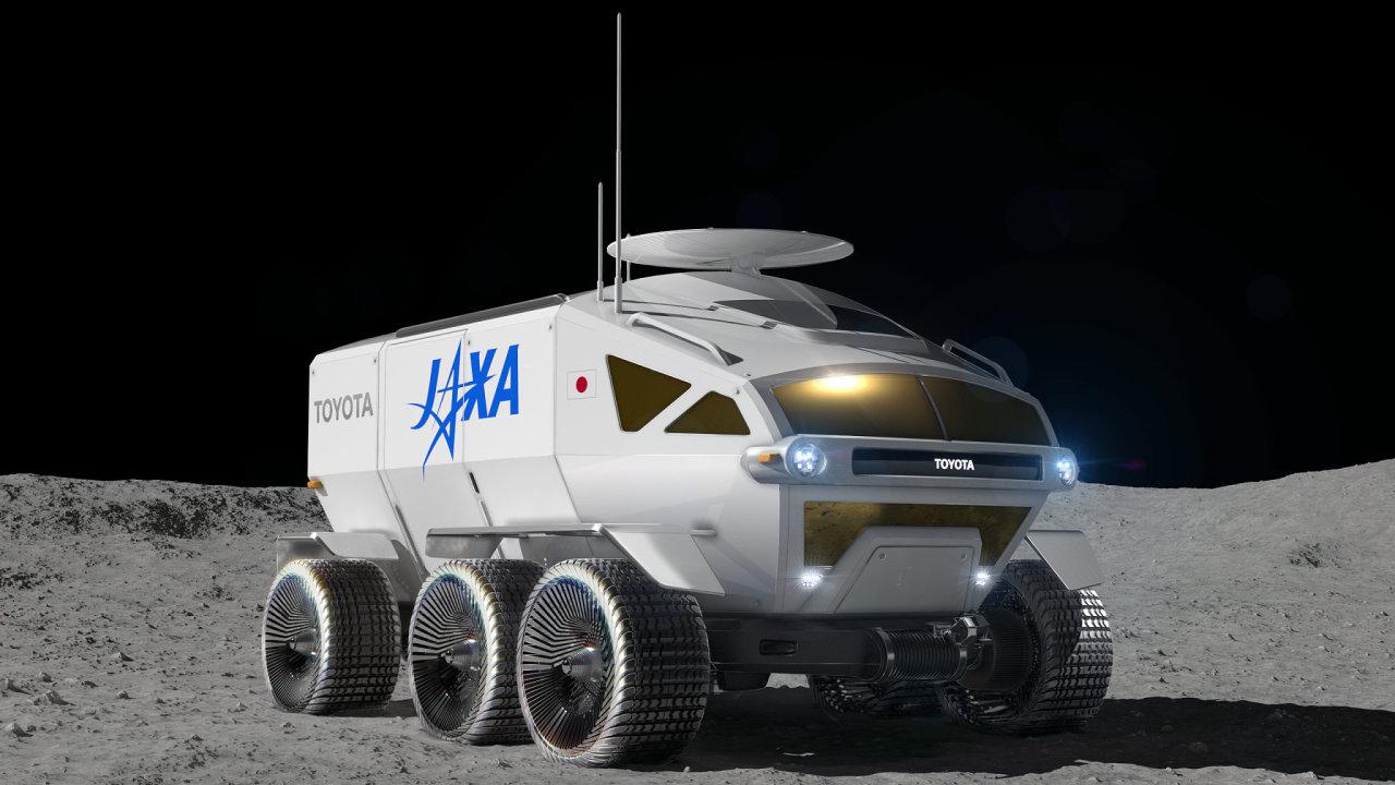 Měsíční rover, který vyvíjí japonská automobilka Toyota ve spolupráci s vesmírnou agenturou JAXA.
