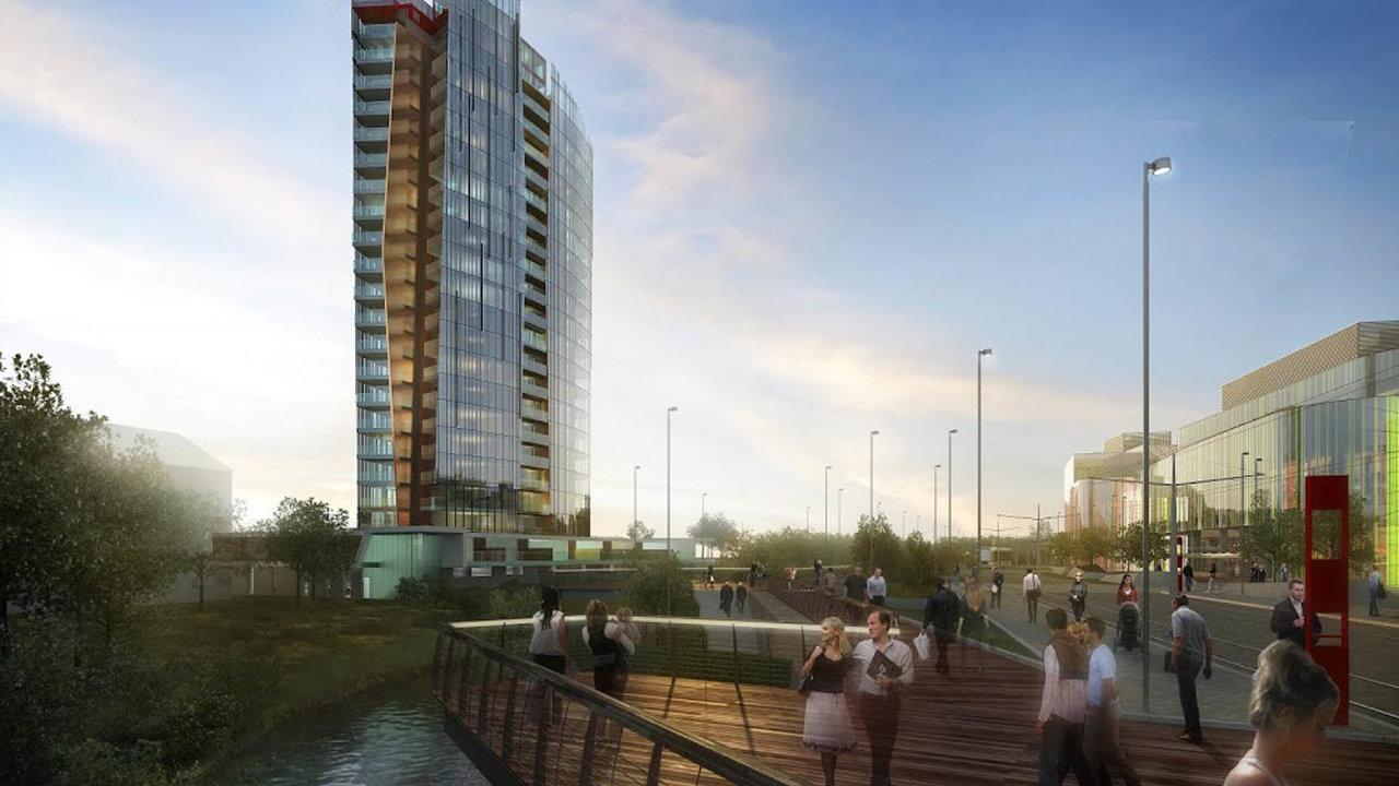 Sporem ostavbu výškové budovy Šantovka Tower vOlomouci se bude znovu zabývat soud.