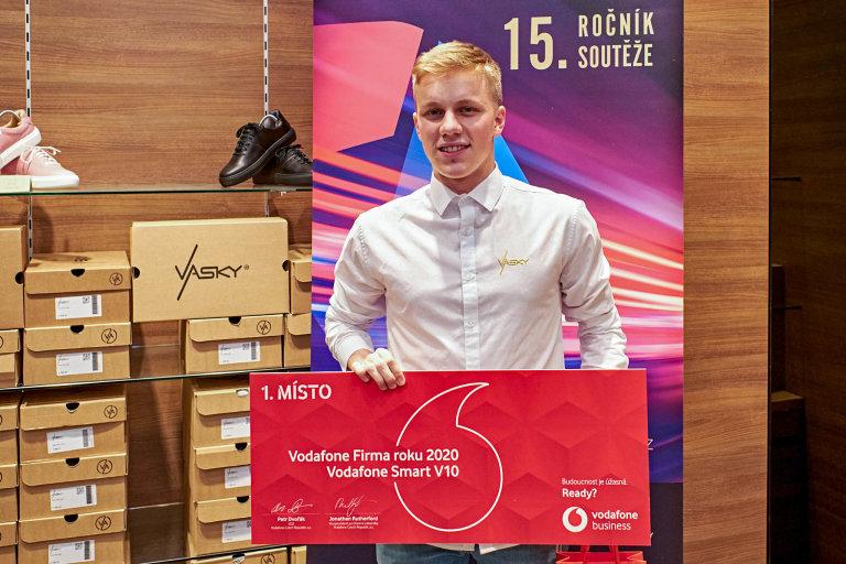 Václav Staněk, jednatel společnosti Vasky Trade, Vodafone Firma roku 2020 Zlínského kraje