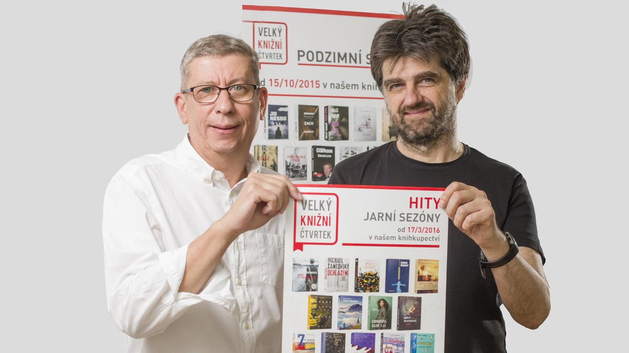 Obchodní ředitel Kosmasu Ctirad Fuchs a zakladatel jednoho z nejstarších českých e-shopů Jiří Michek.