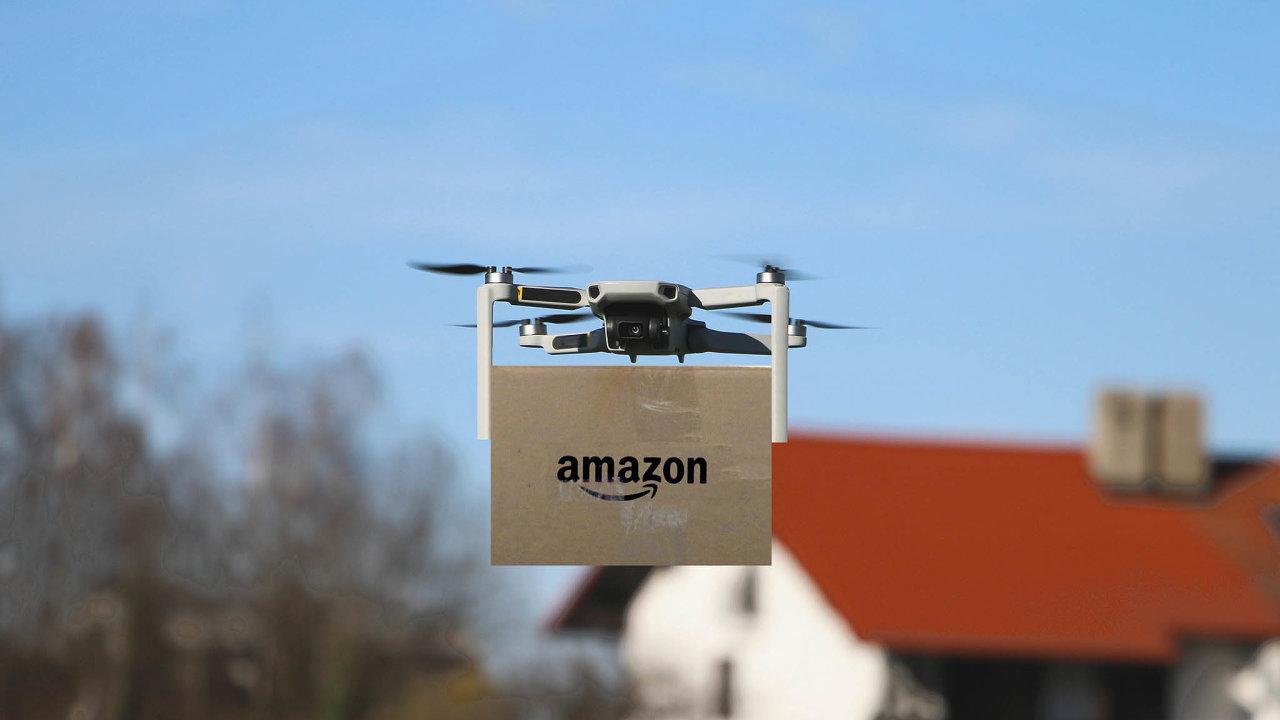Drony doručí jídlo izboží až domů.