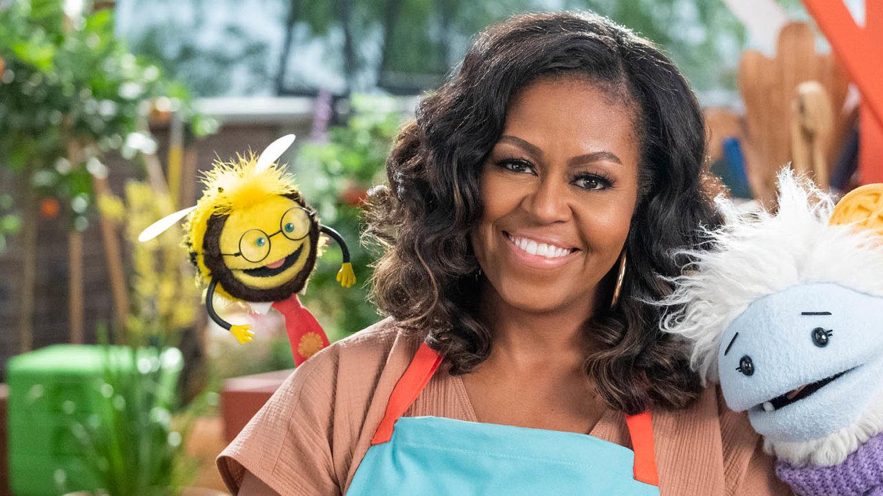 Pořad Michelle Obamové bude dětem vyprávět, jak se dva plyšáci stali šéfkuchaři a jaké nástrahy je přitom čekaly.